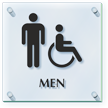 Men And Handicap Restroom ClearBoss Sign