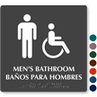 Bilingual Men's Bathroom Tactile Touch Braille Sign