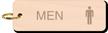 Men Restroom Key Chain, Wood