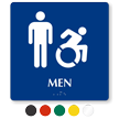 Men Braille Sign, Male Updated Accessible Pictograms
