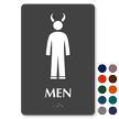 Men TactileTouch Braille Sign with Devil Symbol