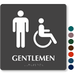 Tactile Touch Braille Door Sign For Gentlemen