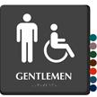 Tactile Touch Braille Door Sign For Gentlemen