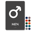 Mars Men Braille Restroom Sign