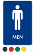 Men Pictogram Braille Restroom Sign