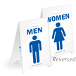 Men & Women W/Graphics Reversible Fold-Ups Floor Sign