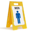 Men W/Graphic Fold-Ups® Floor Sign