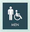 Men w/M/ISA Symbol Sign