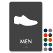 Men Shoes Braille Restroom Sign