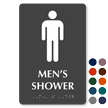 Men's Shower Tactile Touch Braille Door Sign