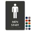 Men Staff TactileTouch Braille Restroom Sign