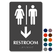 Men & Women Pictograms With Down Arrow