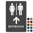 Men & Women Pictograms With Up Arrow