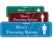 Men's Dressing Room ShowCase Wall Sign