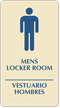 Bilingual Men's Locker Room Braille Sign