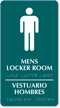 Bilingual Men's Locker Room TactileTouch Braille Sign