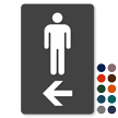 Men Restroom TactileTouch Directional Sign