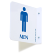 2 Sided Projecting Men's Restroom Sign