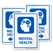 Mental Health Psychologist Sign with Head Gears Symbol