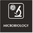 Microbiology Engraved Hospital Sign