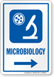 Microbiology Right Arrow Hospital Sign