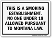 This Is A Smoking Establishment Sign