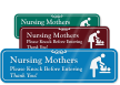 Nursing Mother with Graphic ShowCase™ Sign
