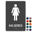 Mujeres Spanish Tactile Touch Braille Sign