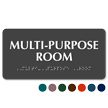 Multi-Purpose Room Tactile Touch Braille Sign