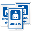 Nephrology Hospital Sign with Kidney Symbol