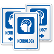 Neurology Sign with Brain, Spinal Cord, Nerves Symbol