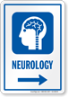 Neurology Right Arrow Hospital Sign