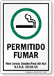 Permitido Fumar Spanish Smoking Allowed Sign