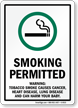 Smoking Permitted Warning Sign