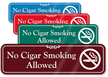 No Cigar Smoking Allowed Showcase Wall Sign