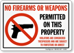 No Firearms Sign