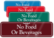 No Food Beverages Sign