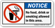No Food Drink Smoking Notice Sign