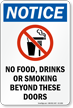 No Food Drinks Smoking Beyond Sign