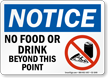 No Food Or Drink Beyond Sign