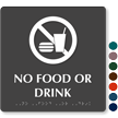 No Food Or Drink Tactile Touch Braille Sign