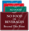 No Food Beverages Beyond Sign