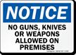 OSHA Notice Gun Rules Sign