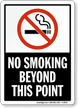 No Smoking In This Area (symbol) Sign