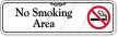 No Smoking Area Showcase Wall Sign