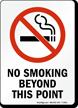 No Smoking Beyond This Point (symbol) Sign