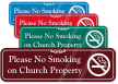 Please No Smoking On Church Property Sign
