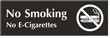 No Smoking No E-Cigarettes Engraved Sign with Graphic