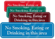 No Smoking, Eating Or Drinking ShowCase Wall Sign