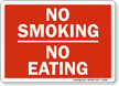 No Smoking No Eating